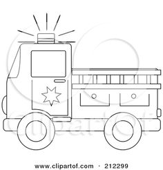 Fire Truck clipart printable #5