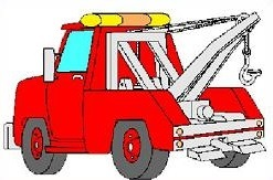 Red clipart tow truck #2