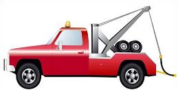 Red clipart tow truck #1