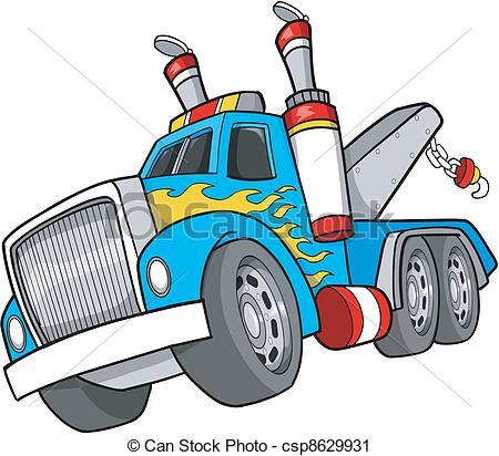 Truck clipart tow truck 2 Art Vector Truck Tow