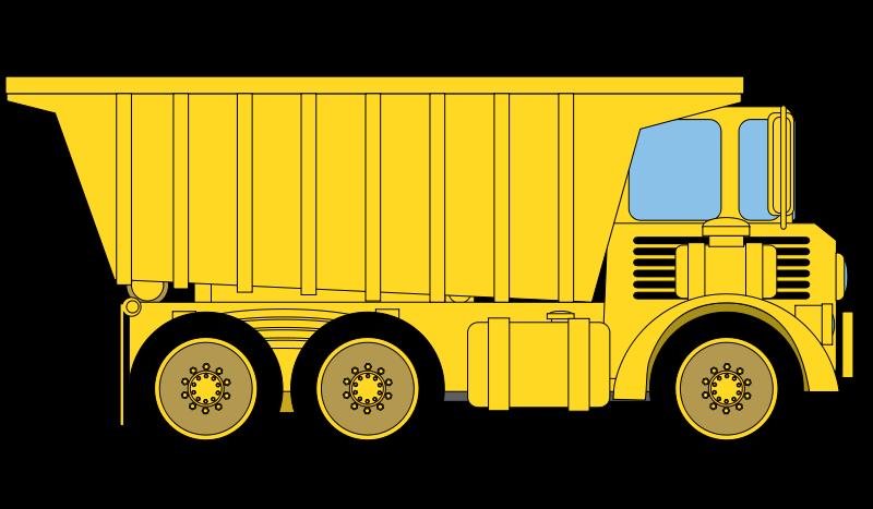 Cartoon clipart dump truck Truck Background Construction Transparent The