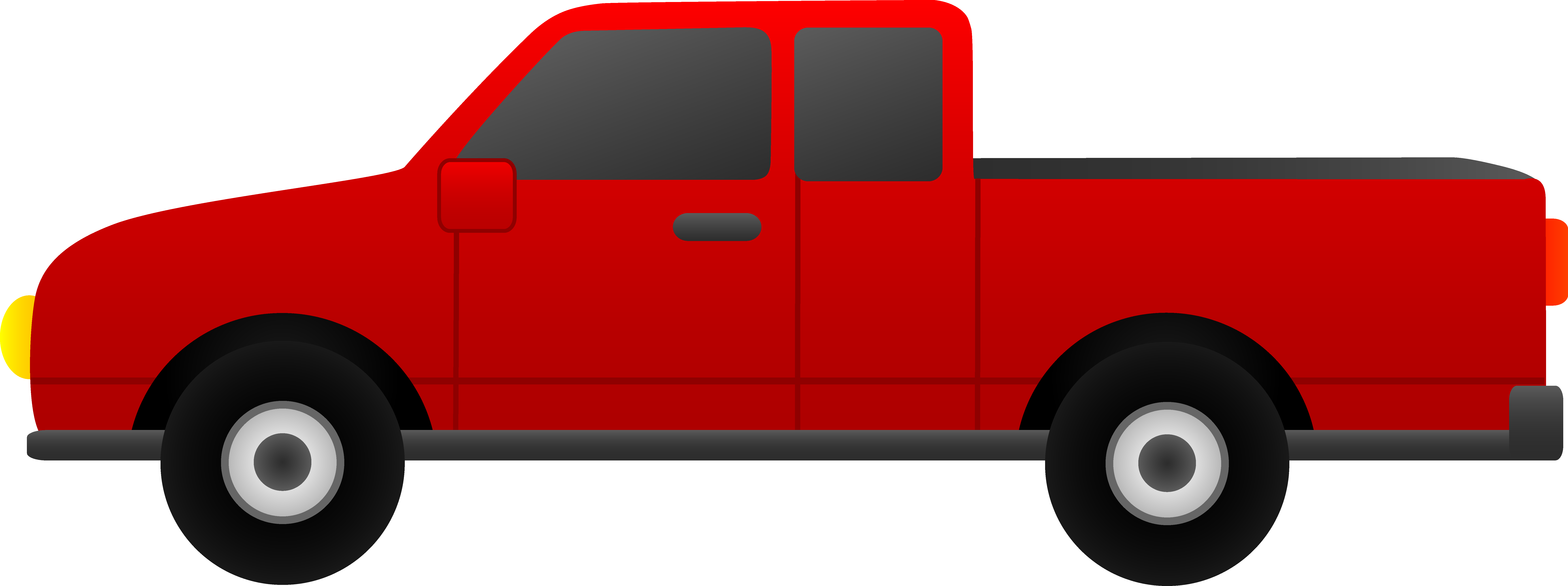 Red clipart pick up truck #2