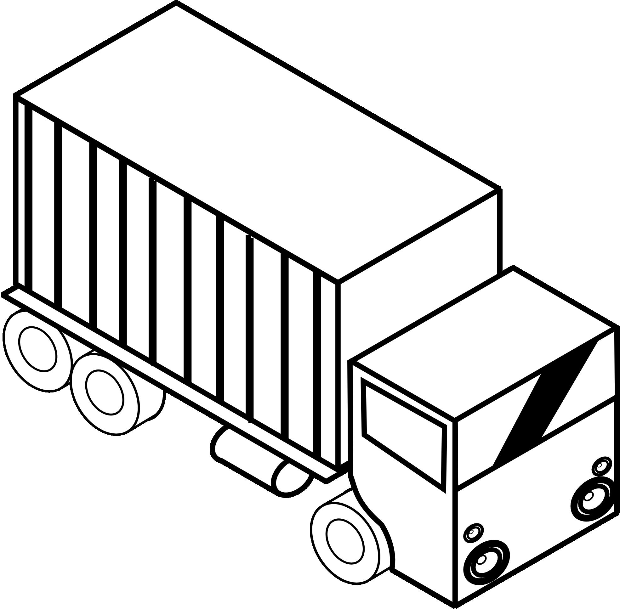 Truck clipart transport truck Black transport truck white free