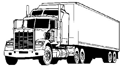 Truck clipart transport truck Black transport transport download free