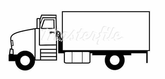 Black clipart lorry Clip 22 Clipart clipart Semi
