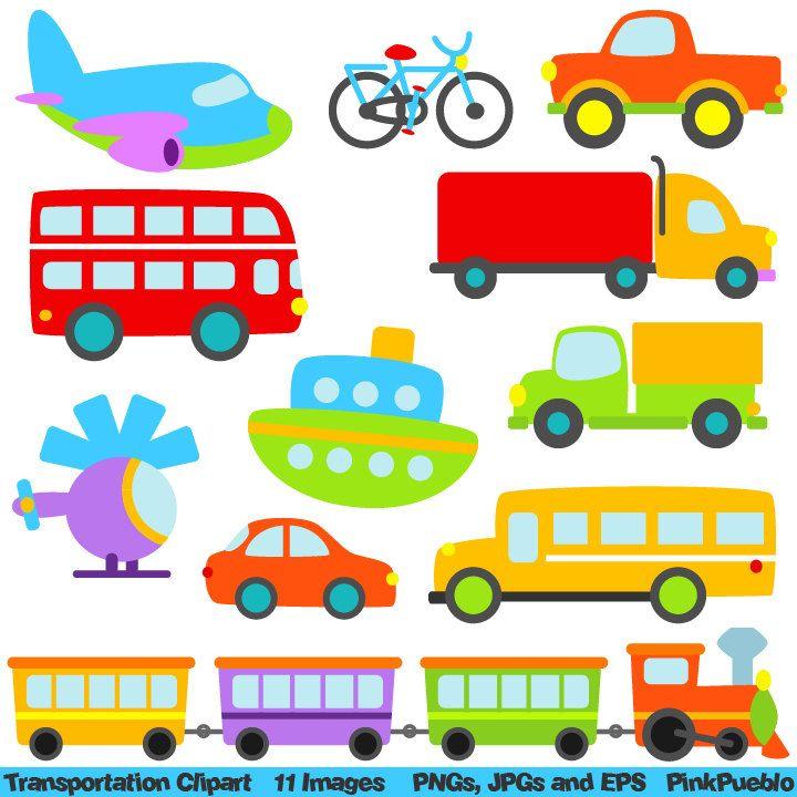 Bus clipart means transport Delights Boat Plane Train Pinterest