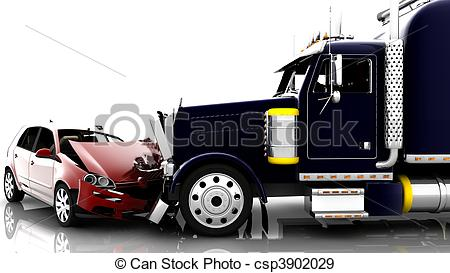 Truck clipart truck accident Stock Accident  and a