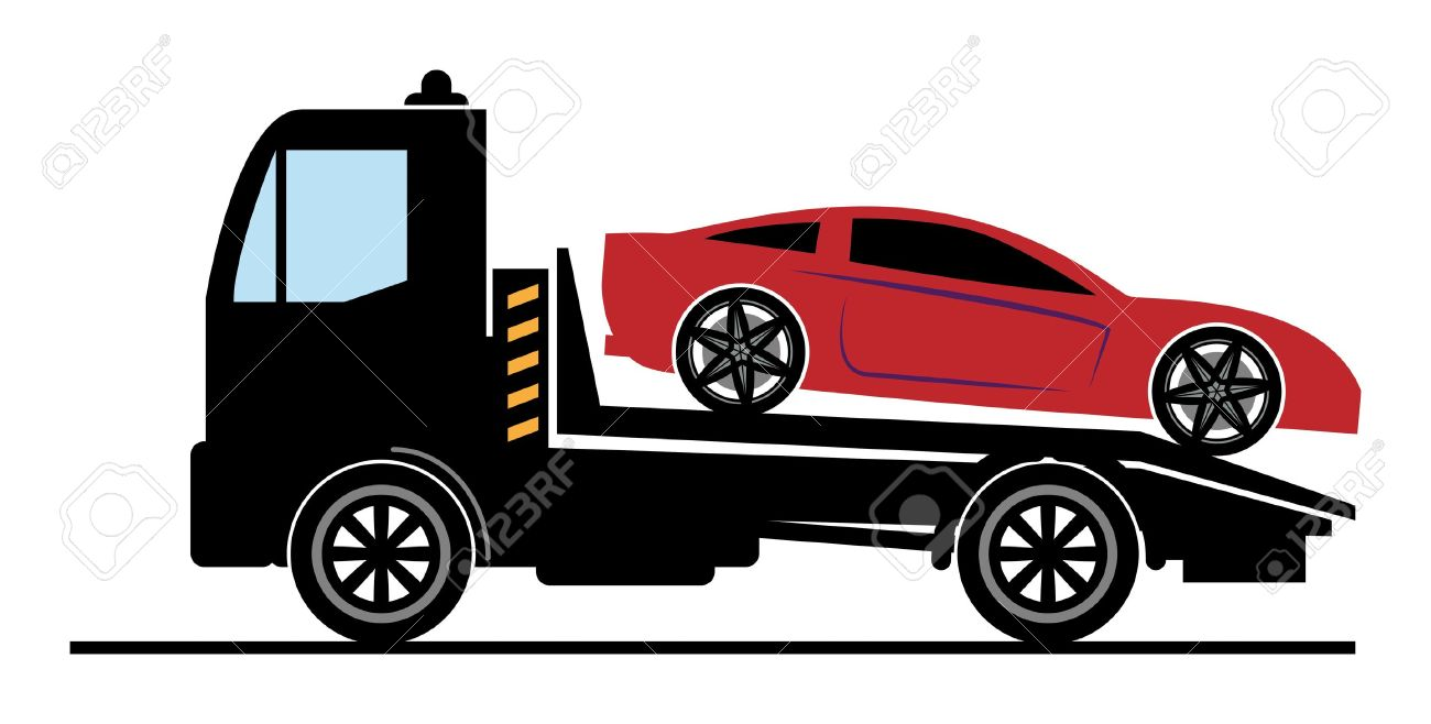 Red clipart tow truck #7