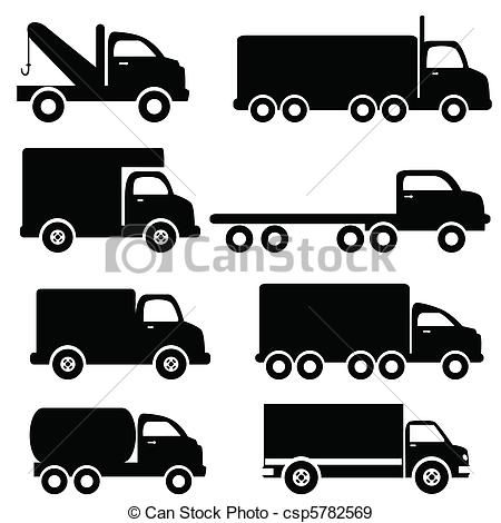 Truck clipart vector Pinterest Moving TrucksClipart vrachtwagen #flocken