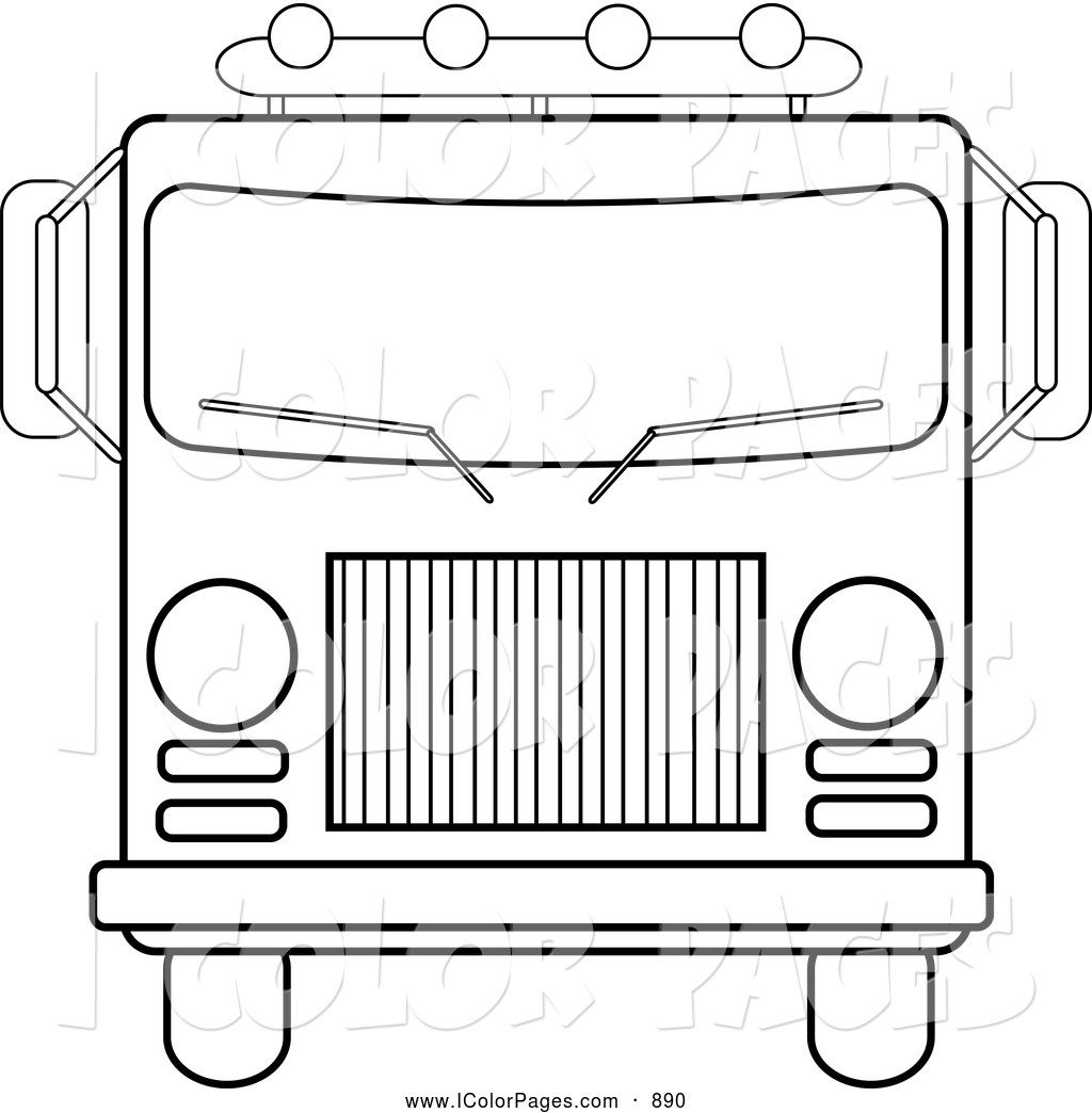 Fire Truck clipart front view With Image Fire Fire Outline