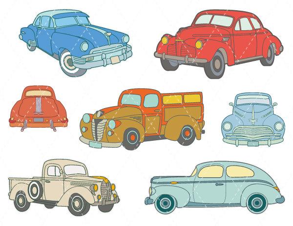 Classics clipart antique car Art Car Clip Red red