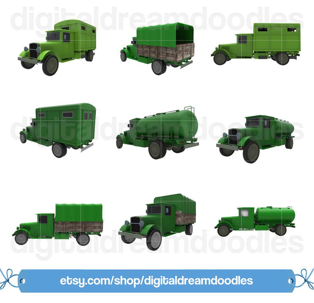 Truck clipart vintage truck Is Vintage digital Ambulance Art