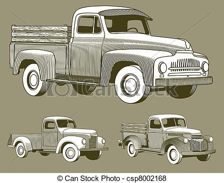 Truck clipart vintage truck Truck; Vector Vintage blank Labels