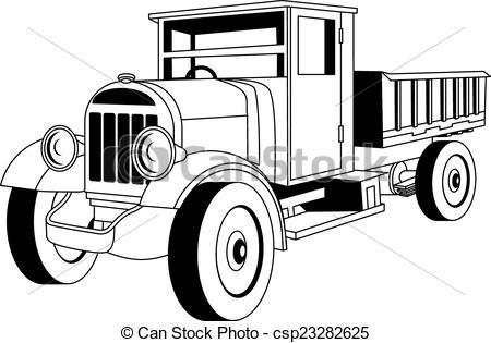 Truck clipart vintage truck Vintage of Vector vintage Illustration