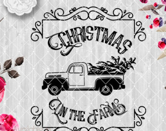 Truck clipart vintage truck Christmas truck Etsy Cute collection