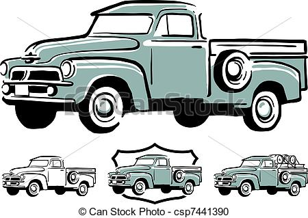Truck clipart vintage truck Truck Classic book  ford