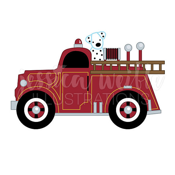 Truck clipart vintage truck Fire Cute with with Graphic