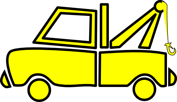 Red clipart tow truck #4