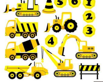 Truck clipart yellow truck Truck Yellow Digital Clipart Construction