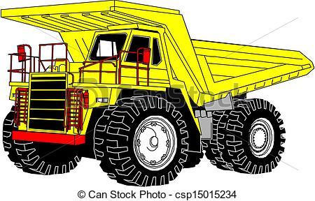 Truck clipart yellow truck Lorry V truck  Vector