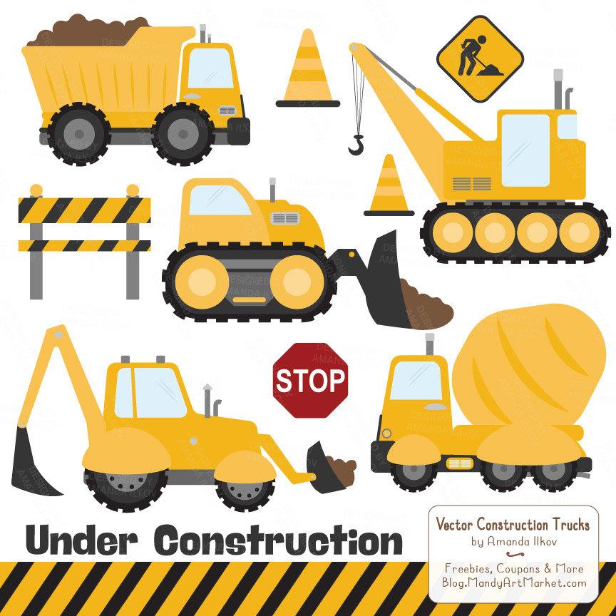 Truck clipart yellow truck Truck clipart Art Clipart Construction