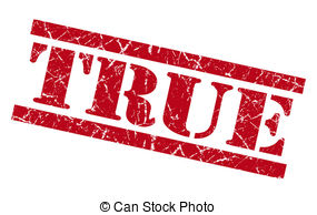 True clipart  stamp isolated truthful True