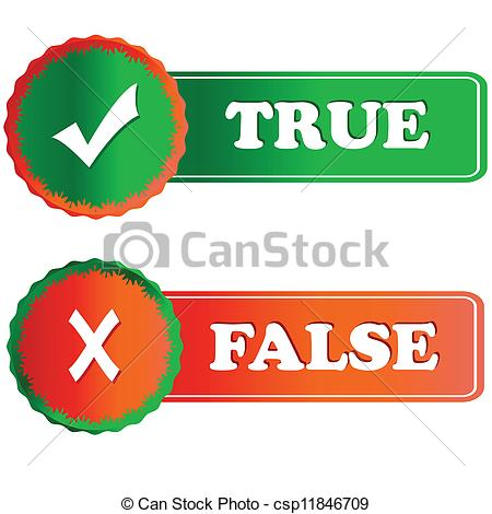 True clipart Clipart false and Clipart Vectors