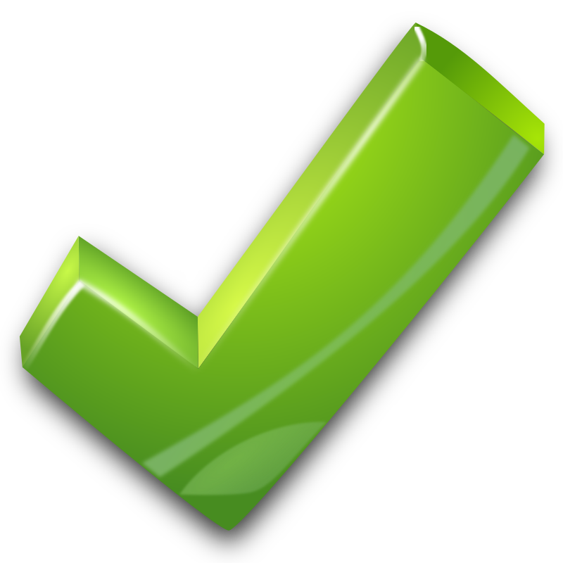 True clipart green tick Collection tick background mark check