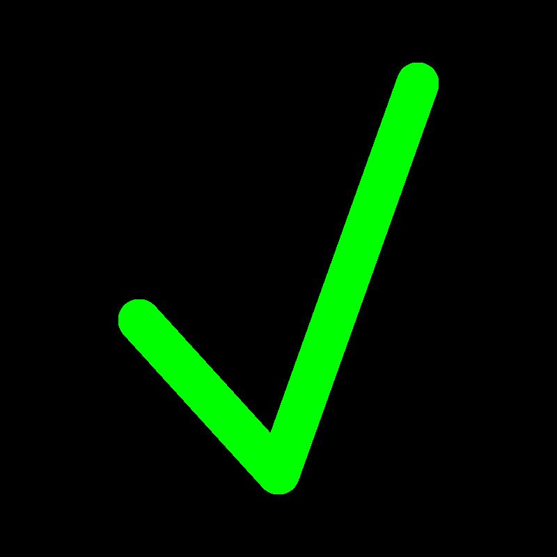 True clipart green tick Art Free Green Clip Art
