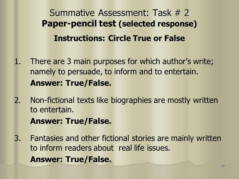 True clipart summative assessment Assessment: Album Photo ppt download