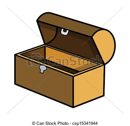 Treasure clipart trunk EPS Art Illustration of Drawing