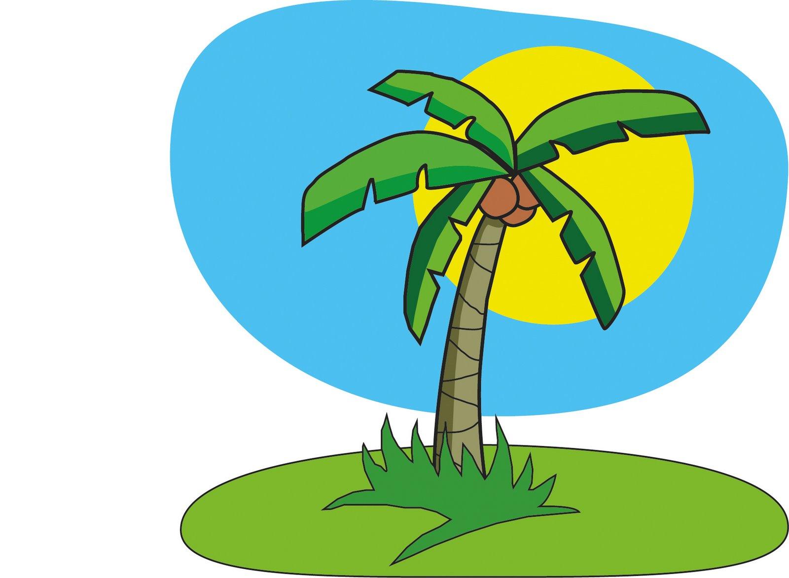 Trunk clipart coconut tree #7
