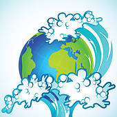 Tsunami clipart city GoGraph · on Earth Tsunami