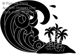 Tsunami clipart Of Black Cartoon White and