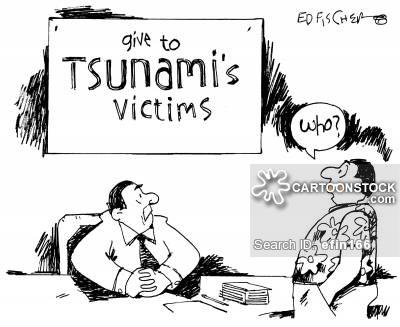 Tsunami clipart funny Charity Comics CartoonStock funny Cartoons