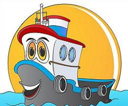 Tugboat clipart barge Tugboats commercial Tags: ships Clipart