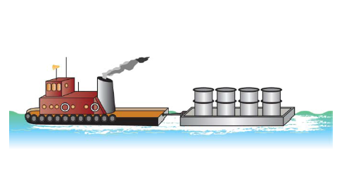 Tugboat clipart barge A Chegg Th Through Tugboat
