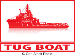 Tugboat clipart barge Jesser1/211; and Illustrations red Tug