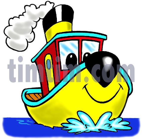 Tugboat clipart cartoon Free Sail com from Boat