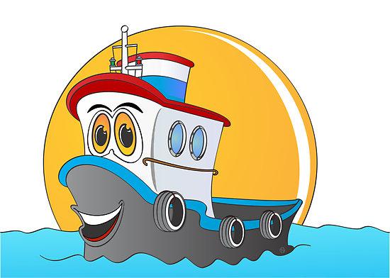 Tugboat clipart cartoon Tug (42+) cartoon Tugboat boats