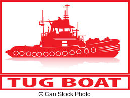 Tugboat clipart red boat Tugboat Tugboat boat Clipart and