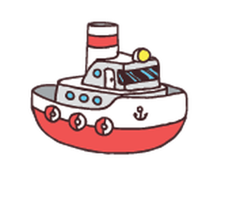 Tugboat clipart toy Transport Dump Hand Clipart Illustration