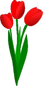 Tulip clipart Clip Three Tulip Art Red