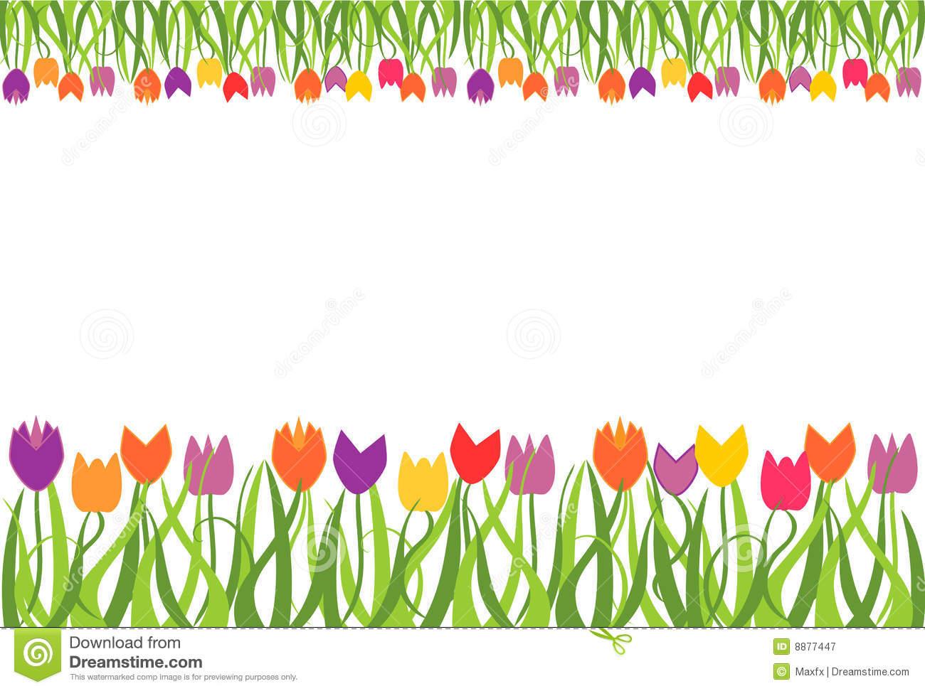 Tulip clipart border #7