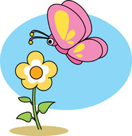 Tulip clipart butterfly #8