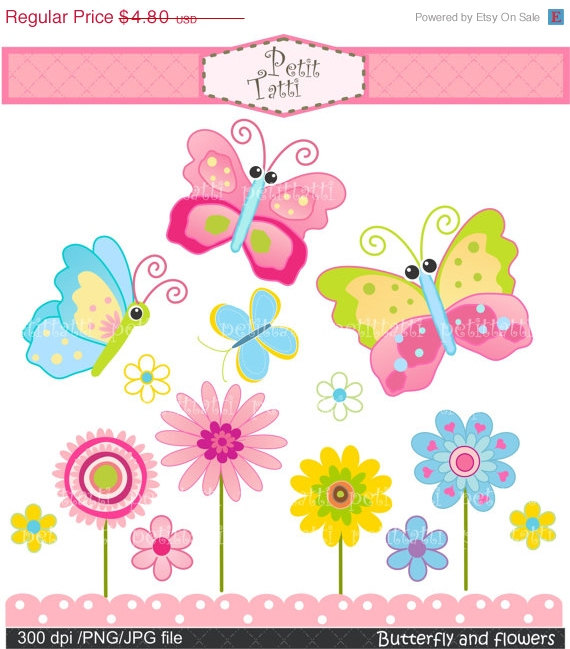 Tulip clipart butterfly #7