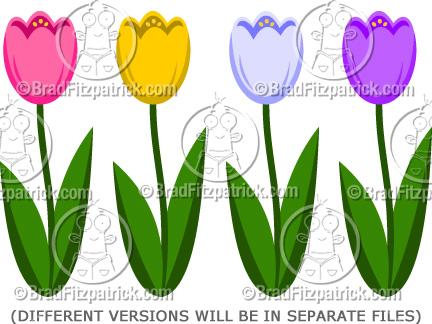 Tulip clipart cartoon #14