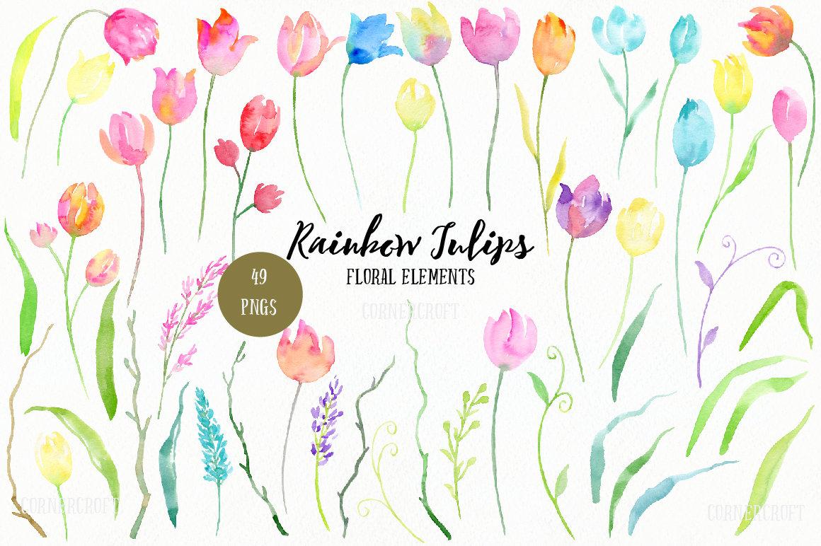 Tulip clipart pastel #8