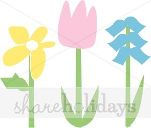 Tulip clipart pastel #12