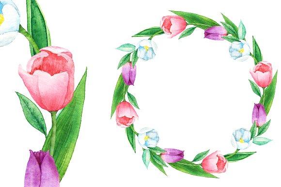 Tulip clipart pastel #11